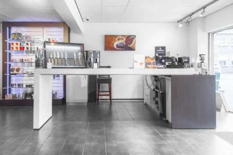 Interieur Etagère koffie en thee Baarle Nassau. Bedrijfsfotografie