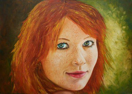 Mia, Schilderij van Ton Steehouder