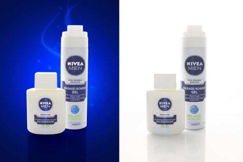 Productfotografie, Nivea Man voor na